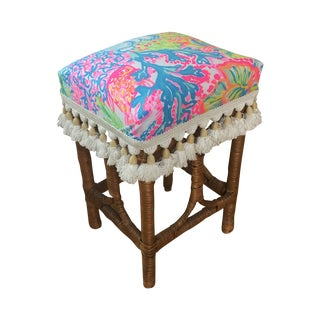 Lilly Pulitzer Footstool/Kid's Chair