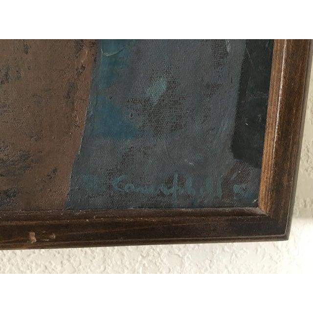"Richard Campbell Mid-Century ""Minstrel"" Original Painting - Image 5 of 6"