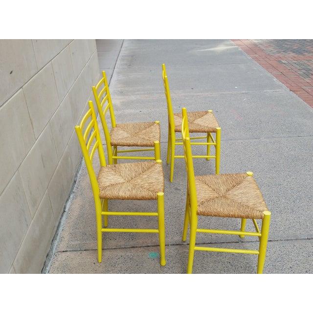 Mid-Century Gio Ponti Style Chairs - Set of 4 - Image 4 of 11