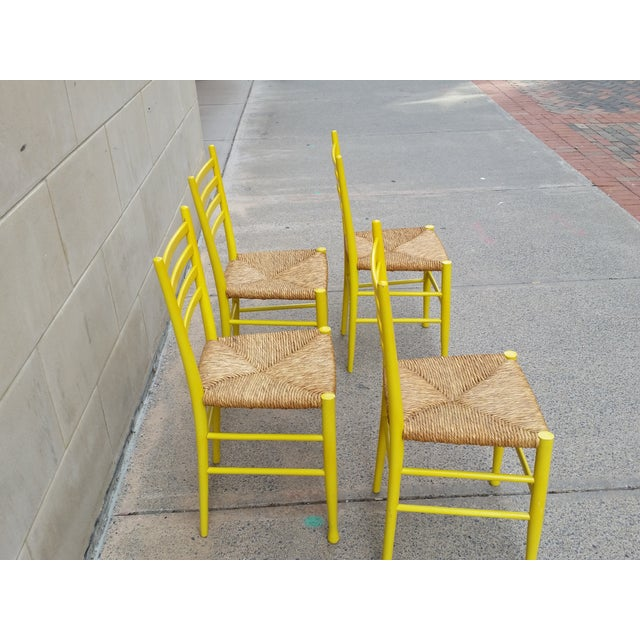 Image of Mid-Century Gio Ponti Style Chairs - Set of 4