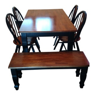 Cherry & Ebony Dining Set - Set of 6