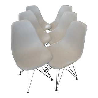 Eames-Style White Chairs - Set of 6
