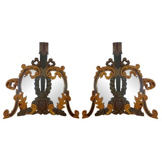 Hand Carved Italian 18th C. Mirrors - Pair