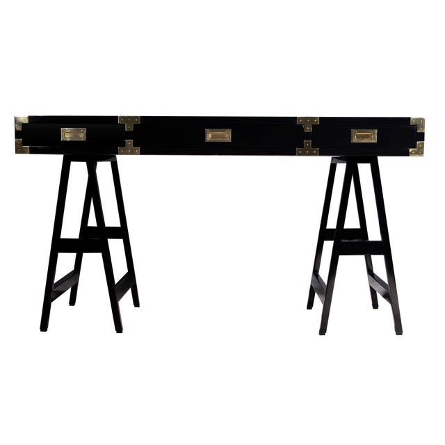 Selamat Designs Chiba Black Lacquer Study Desk - Image 2 of 4