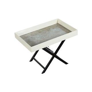 Mid Century Modern Shagreen Folding Tray Table