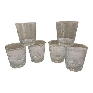 Etched Rocks Glasses - Set of 6