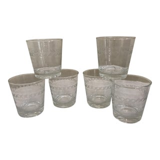 Etched Rocks Glasses - Set of 6