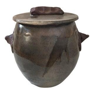 Handmade Clay Jar With Lid