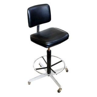 Black Adjustable Drafting Chair