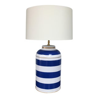 Dana Gibson Blue & White Tea Caddy Lamp