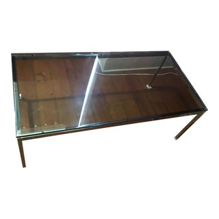 "45"" Knoll Studios Florence Knoll Chrome Glass Coffee Table"