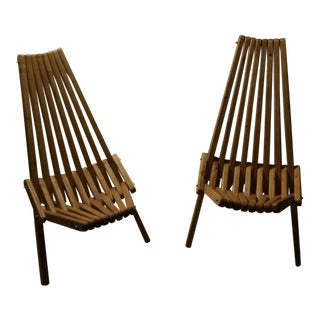 Reclaimed Wood Beach Chairs - A Pair