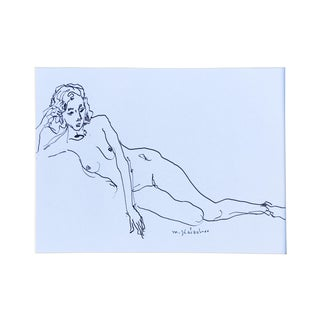 Original Ink Drawing Figure Study