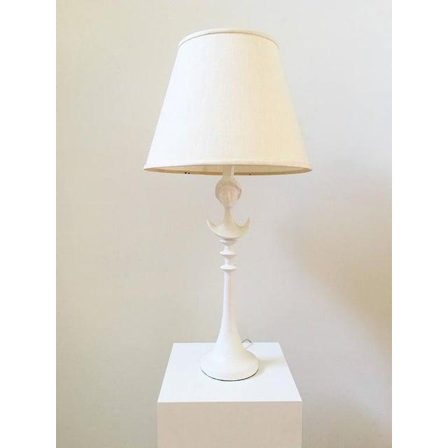 Image of Mid-Century 1940's White Lamp