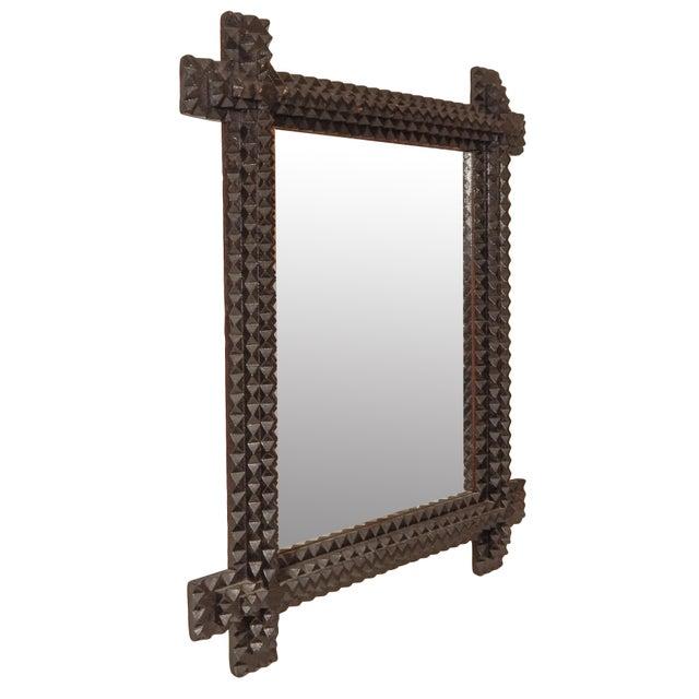 Tramp Art Mirror - Image 3 of 7