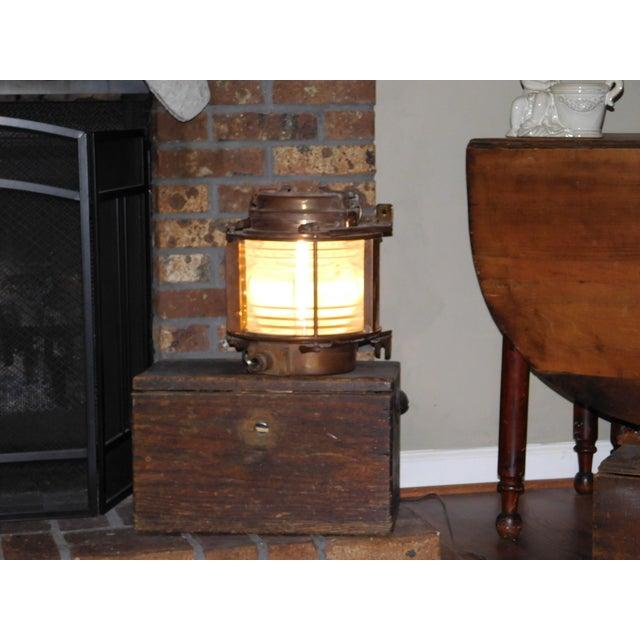 Vintage Brass Ship Lantern - Image 2 of 2