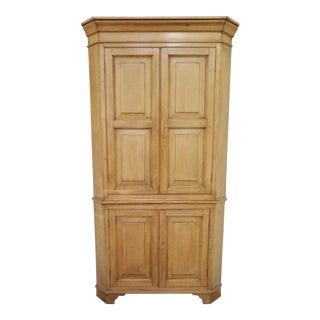 Antique English Corner Cupboard