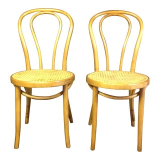 Blonde Bentwood Chairs - A Pair