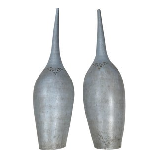 Pasargad NY Vintage Long Necked Vases - A Pair