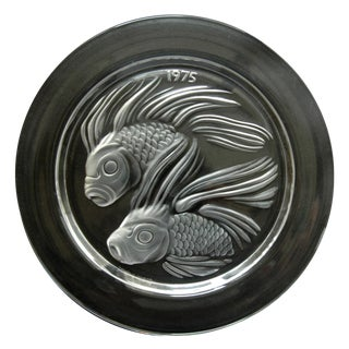 "Lalique Crystal""Fish Duet"" PLATE"