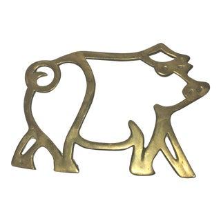 Brass Pig Trivet