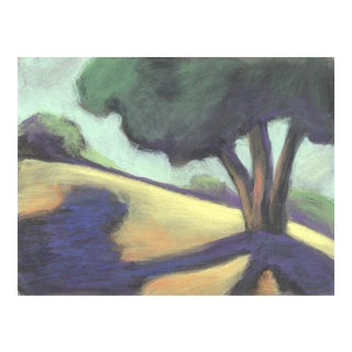 'Wildcat Canyon Hillside' Pastel Landscape Drawing