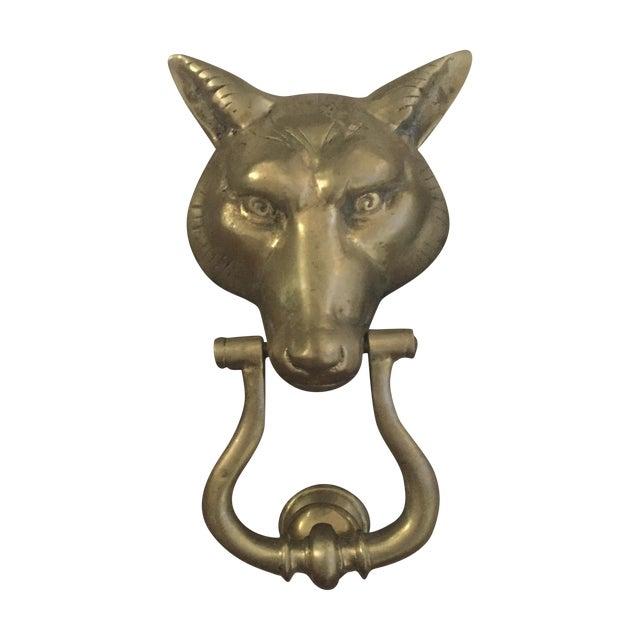 Solid Brass Fox Door Knocker Chairish