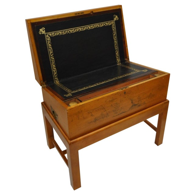Image of Antique Late 19th C. Lap Desk with Illustrations