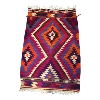 Vintage Turkish Kilim Rug- 2′7″ × 3′9″