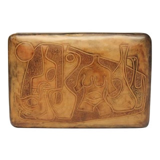 20th Century Italian Handmade Leather Box by Piero Capecchi