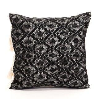 Black Diamonds Handwoven Pillow