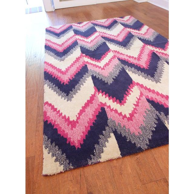 Florence Broadhurst Chevron Wool Rug 5 X 8 Chairish