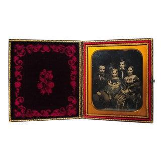 Daguerreotype Family Portrait, 1850's Photograph
