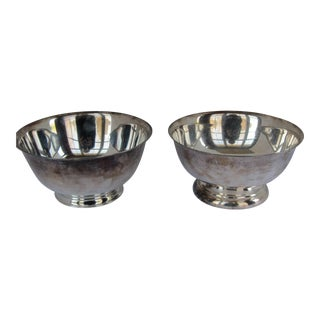 Silver-plate Serving Bowls - A Pair