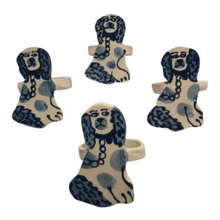 Staffordshire Dog Napkin Rings - Set of 4