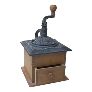 Antique Wood Coffee Mill