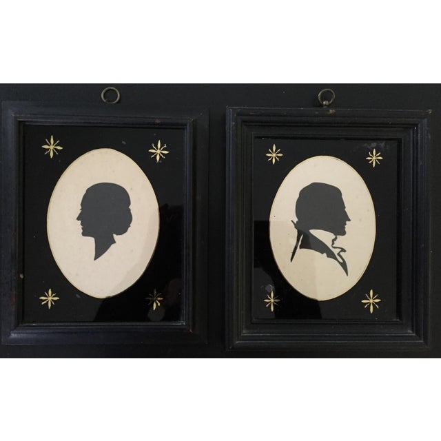 19th-C. Portrait Silhouettes - A Pair - Image 2 of 6
