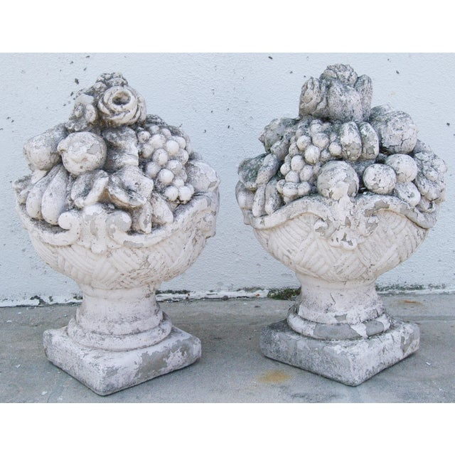 Oversize Concrete Garden Finials A Pair Chairish