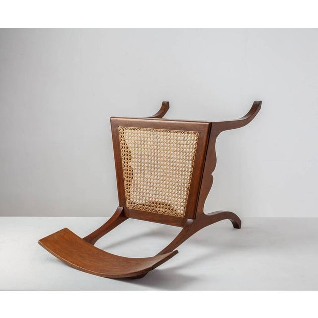 Ole Peter Momme Oak and Cane Klismos Chair, Denmark, 1880s - Image 5 of 10