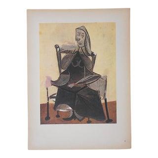 Vintage Ltd. Ed. Modernist Lithograph-Pablo Picasso- c.1946-Folio Size