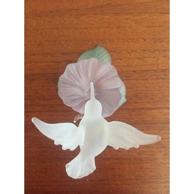 Hummingbird Blown Glass Figurine - Image 4 of 8