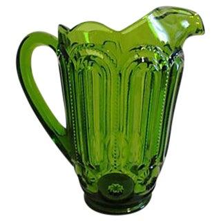 Vintage Green Depression Glass Pitcher
