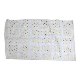 White Moroccan Wedding Blanket With Sequins
