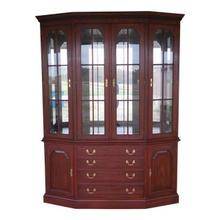 HENKEL HARRIS Lighted Cherry China Cabinet