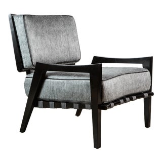 Paul Marra Low Lounge Chair in Black Lacquer