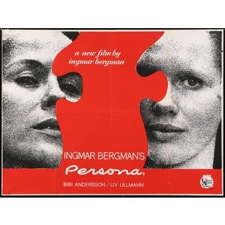 "Vintage 1967 Ingmar Bergman ""Persona"" Film Poster"
