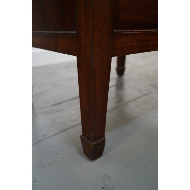Antique Mahogany Regency Style 3 Drawer Nightstand - Image 9 of 10
