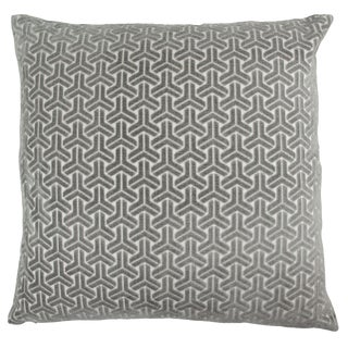 "Piper Collection Gray Velvet ""Neill"" Pillow"