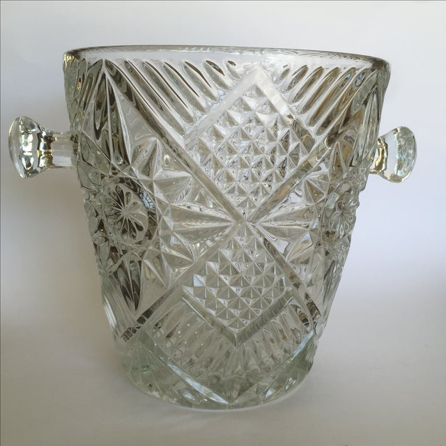 Cut Glass Crystal Ice Bucket - Image 3 of 8