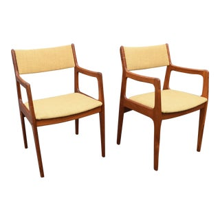 Vintage Danish Modern Teak Chairs - A Pair